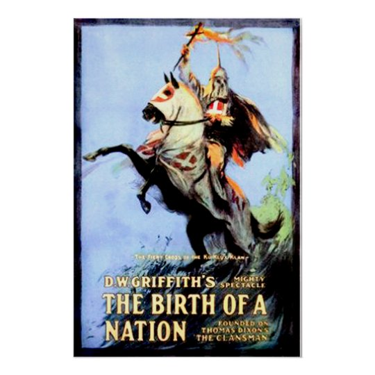 The Birth of a Nation Vintage Movie Poster