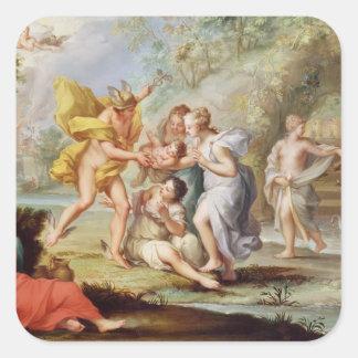The Birth of Bacchus Square Sticker