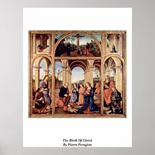 The Birth Of Christ By Pietro Perugino Print