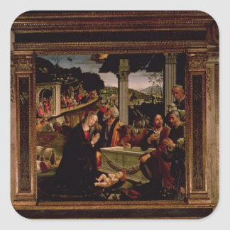 The Birth of Christ Square Sticker