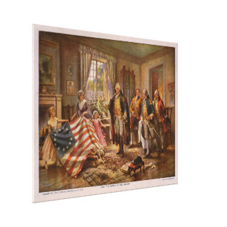The Birth of Old Glory by Edward Percy Moran Gallery Wrap Canvas