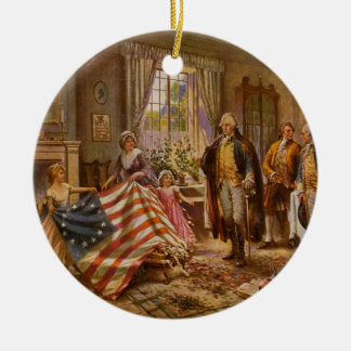 The Birth of Old Glory by Percy Moran Christmas Ornament