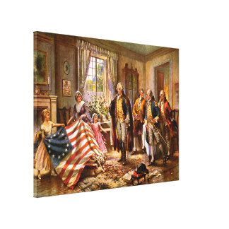 """""""The Birth Of Old Glory"""" - Circa 1917 Gallery Wrap Canvas"""