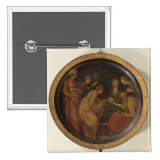 The Birth of St. John the Baptist, c.1526 (oil on 15 Cm Square Badge