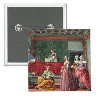 The Birth of St. John the Baptist (fresco) (see al 15 Cm Square Badge