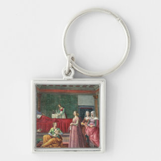 The Birth of St. John the Baptist (fresco) (see al Silver-Colored Square Key Ring