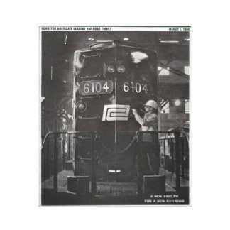 The Birth of The Penn Central Railroad Canvas Print
