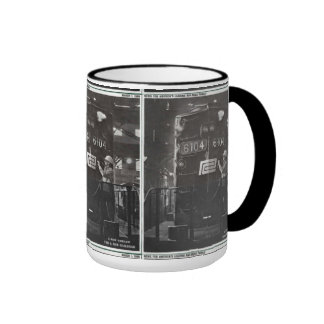 The Birth of The Penn Central Railroad Ringer Mug
