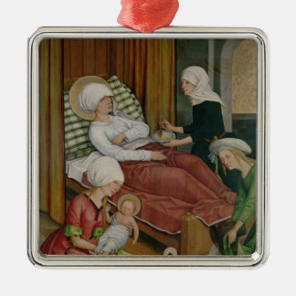 The Birth of the Virgin, c.1500 Christmas Ornament