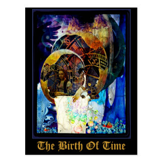 The Birth Of Time Postcard by Whimzwhirled