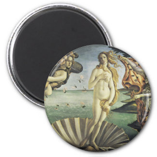 The Birth of Venus 6 Cm Round Magnet