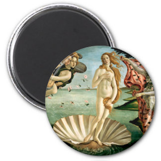 The Birth of Venus by Botticelli 6 Cm Round Magnet