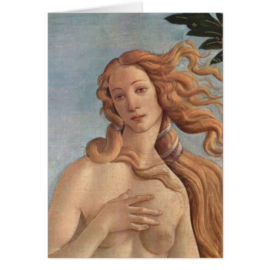 The Birth of Venus by Botticelli, Renaissance Art Card