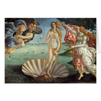 The Birth of Venus by Botticelli, Renaissance Art Greeting Card