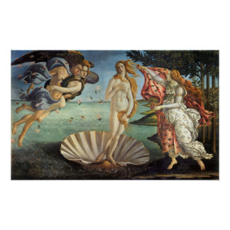 The Birth of Venus by Botticelli, Renaissance Art Poster