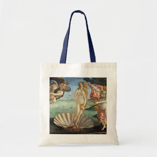 The Birth of Venus by Botticelli, Renaissance Art Budget Tote Bag