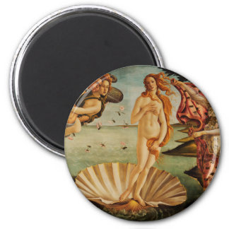 The Birth of Venus by Sandro Botticelli 6 Cm Round Magnet
