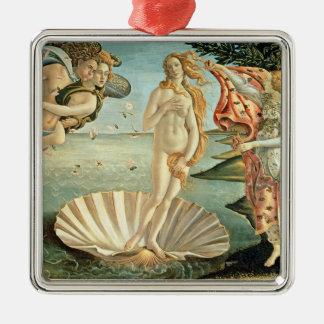 The Birth of Venus, c.1485 (tempera on canvas) Silver-Colored Square Decoration