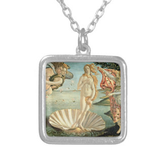The Birth of Venus, c.1485 (tempera on canvas) Silver Plated Necklace