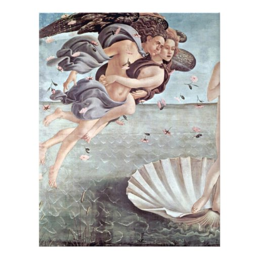 The Birth Of Venus Detail By Botticelli Sandro Flyers