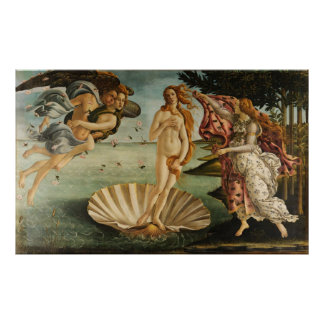 The Birth of Venus Sandro Botticelli Painting 1845 Poster