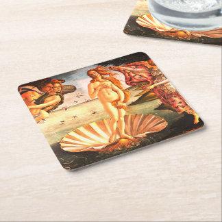The Birth Of Venus Square Paper Coaster