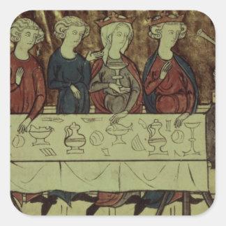 The Birthday Feast of Nubien, King of Armenia Square Sticker