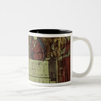 The Birthday Feast of Nubien, King of Armenia Two-Tone Coffee Mug