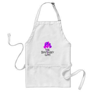 The Birthday Girl Pink Purple Balloons Standard Apron