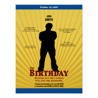 The Birthday Movie Poster Boy