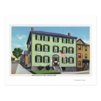 The Birthplace of the Poet Longfellow Postcard