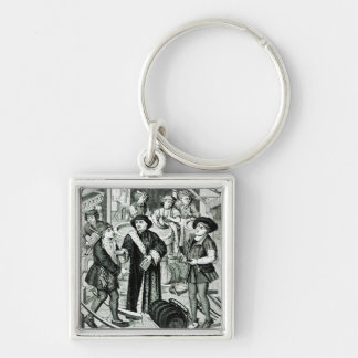 The Bishop of Tournai receiving the Tithe of Beer Key Ring