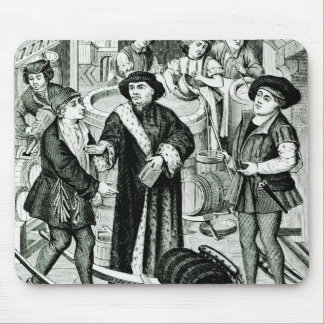 The Bishop of Tournai receiving the Tithe of Beer Mouse Mat