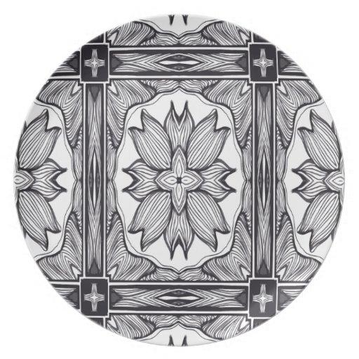 The Black and White Secret Dinner Plates