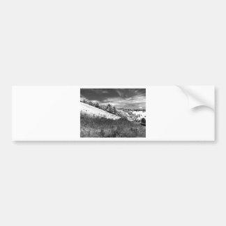 The black and white valley bumper sticker