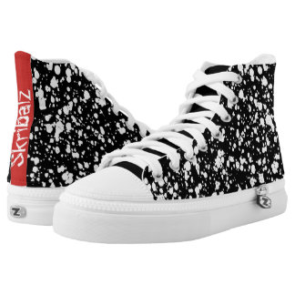 The black beach high tops printed shoes