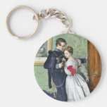 """The Black Brunswicker"" by Millais Basic Round Button Key Ring"