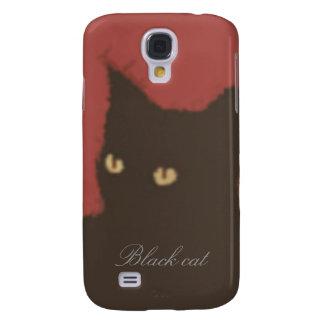 The black cat galaxy s4 case
