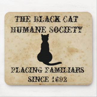 The Black Cat Humane Society Mouse Mat