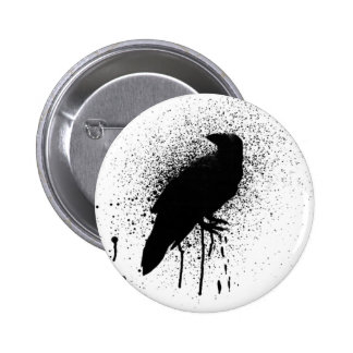 The black crow 6 cm round badge