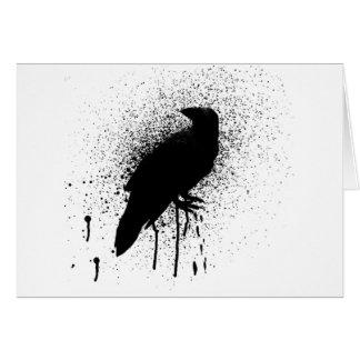 The black crow greeting card