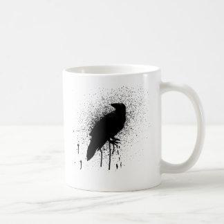 The black crow classic white coffee mug