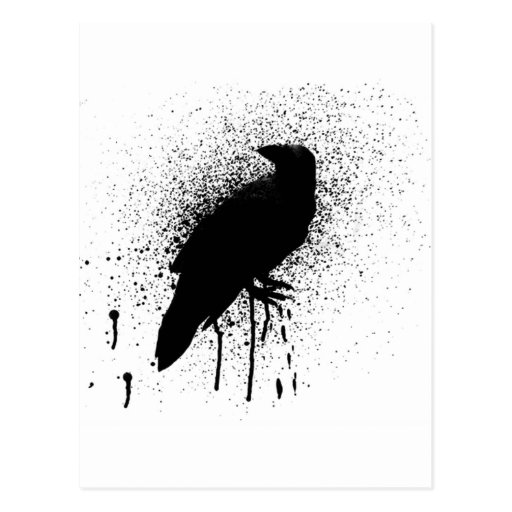 The black crow post card
