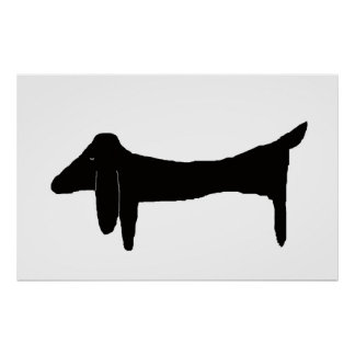 The Black Dachshund Poster