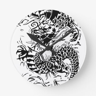 The Black Dragon Round Clock
