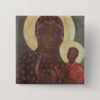 The Black Madonna of Jasna Gora 15 Cm Square Badge