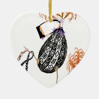 The Black Opal Fab Egg, tony fernandes Ceramic Heart Decoration