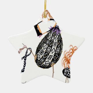 The Black Opal Fab Egg, tony fernandes Ceramic Star Decoration