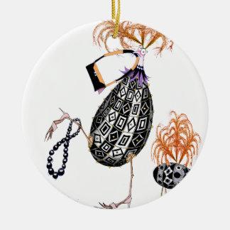 The Black Opal Fab Egg, tony fernandes Round Ceramic Decoration