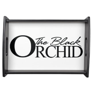 The Black Orchid Serving Tray